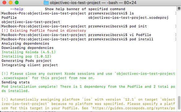 Pod Install for Advanced Xamarin Bindings iOS Project