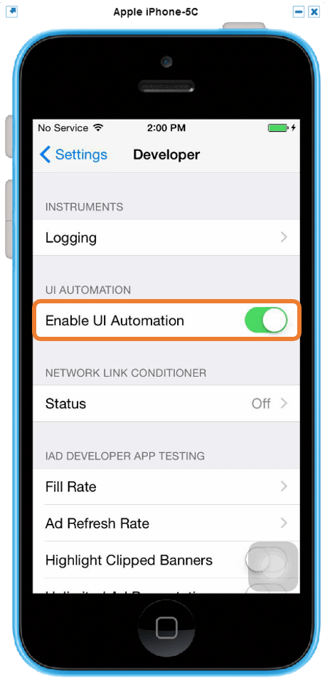 Xamarin Test Cloud - Enable UI Automation