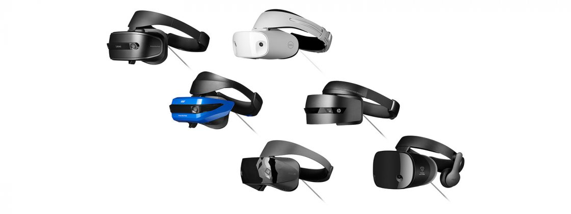 Various Mixed Reality devices by Acer, Lenovo, Dell, HP, Samsung, and more
