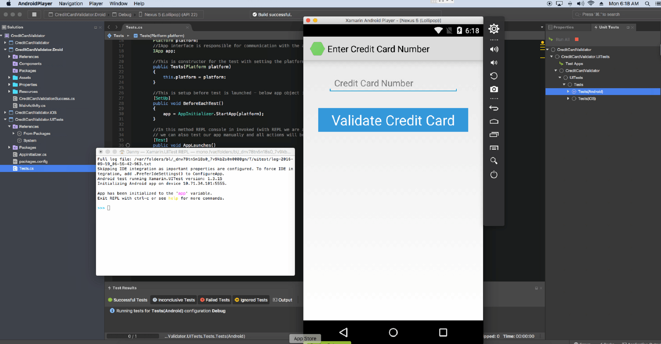 Xamarin Test Cloud