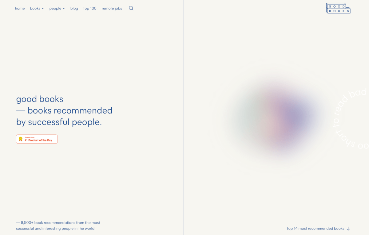 Good Books's website is a fine example of delicate use of gaussian blur