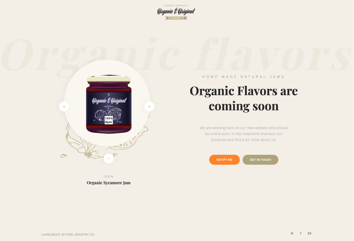Organic web design example by Pixel Industry