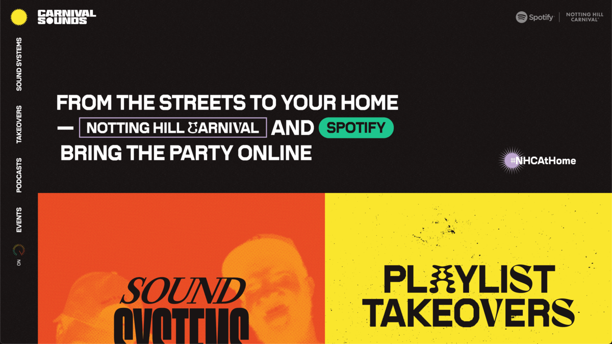 Example of retro fonts in use on the Spotify website