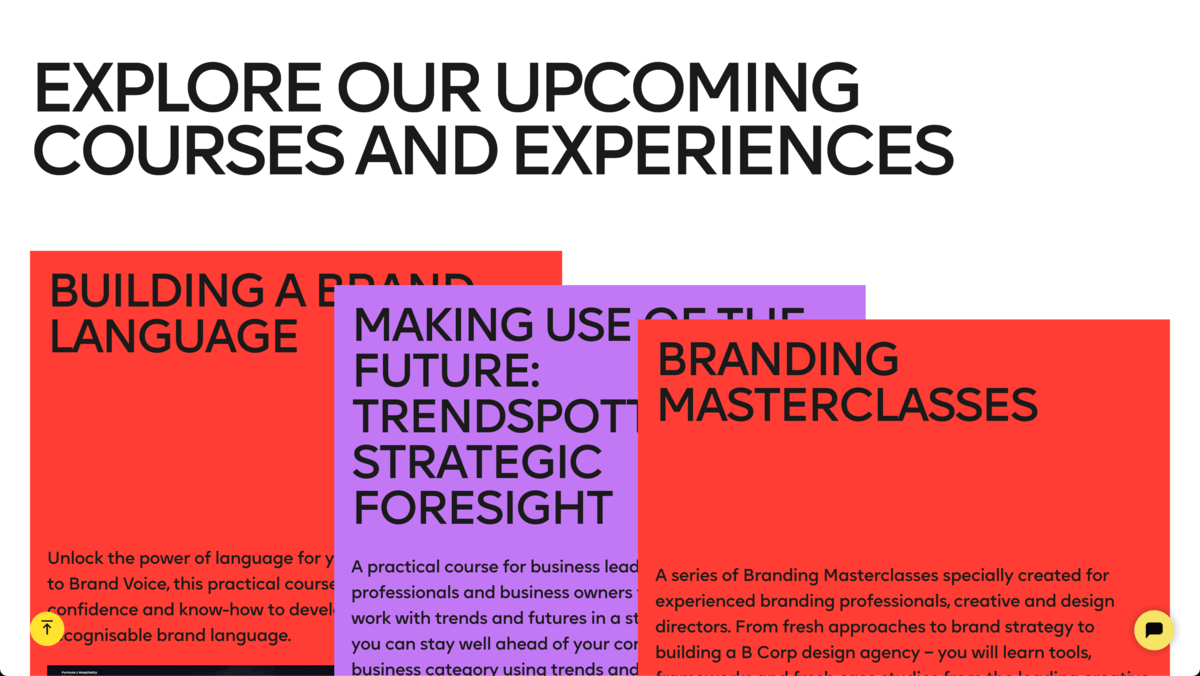 Example of retro fonts in use on the Future London Academy website